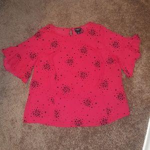 Liz Claiborne Plus Size Red Top-0X
